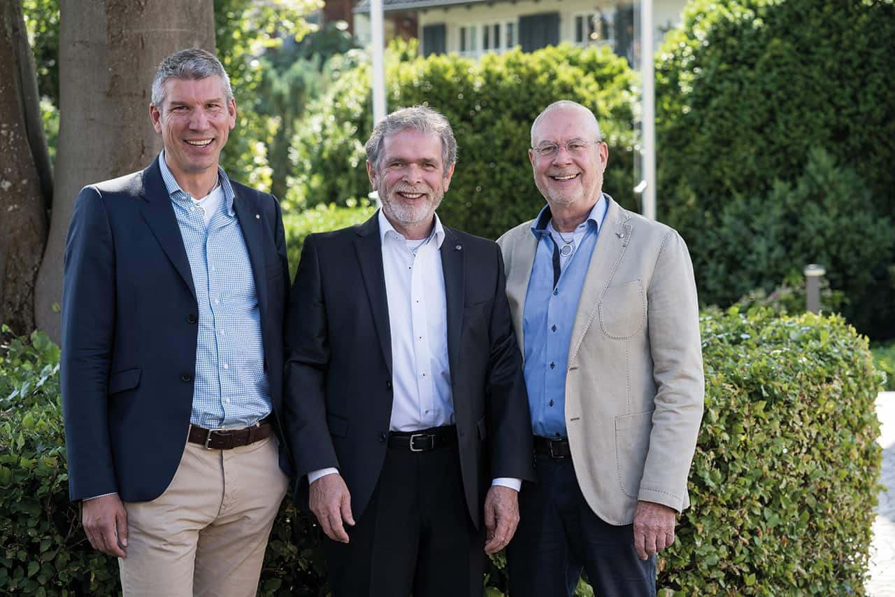Tobias Schmitt, Harry Roos, Gerd Lehmann (v.l.n.r.)